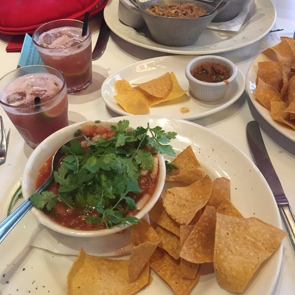 Generous portions and tasty guacamole. The prawn ceviche was more like a spicy soup, but delicious!