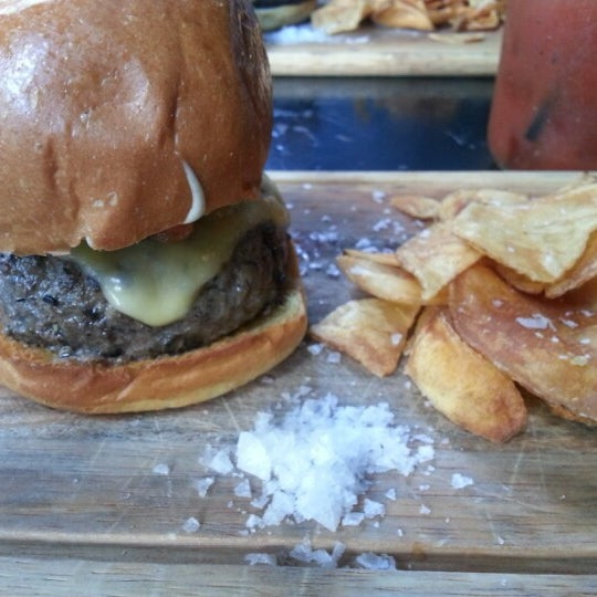 Try the wagyu burger for lunch. Meat should be no warmer than medium.