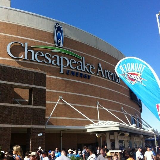 Das Foto wurde bei Chesapeake Energy Arena von Cynthia N. am 4/1/2012 aufgenommen