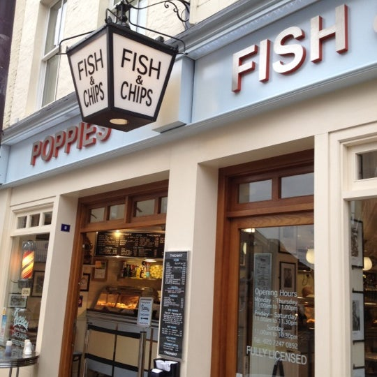 Hungry? We went to Poppies fish and chips restaurant and take away round the corner in Hanbury street. Amazing fish really tasty.