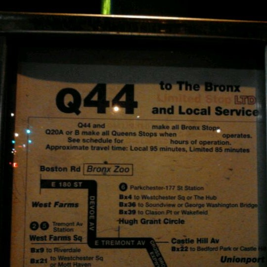 MTA Bus - Q44 - Flushing - 9 tips Q Bus Map on