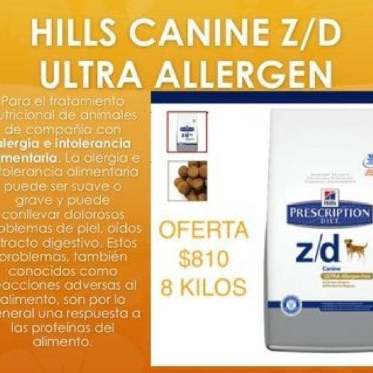 Hill's Z/D en oferta $810 los 8 kilos!!!