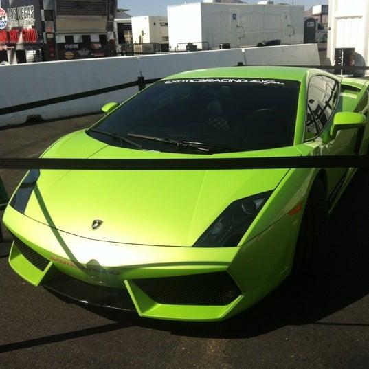 Снимок сделан в Exotics Racing пользователем Erin L. 5/19/2012
