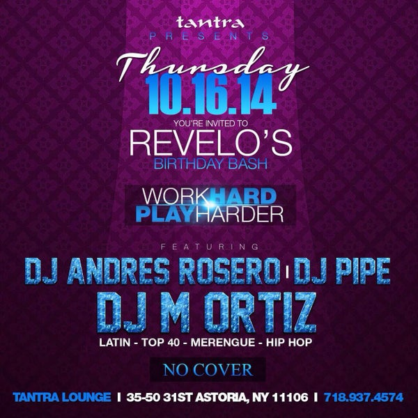 Join us this thursday as we celebrate Carlos' Birthday Bash & our signature thursday night party #WorkHard #PlayHarder!