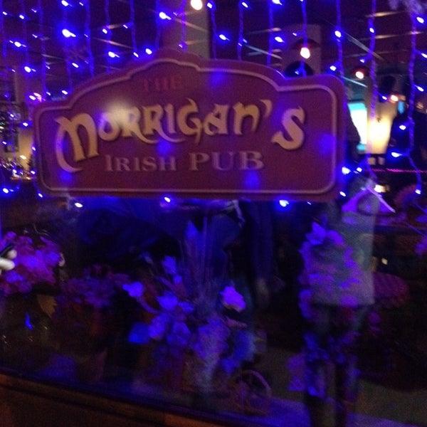 Снимок сделан в Morrigan's Irish Pub пользователем Amalia T. 12/8/2013