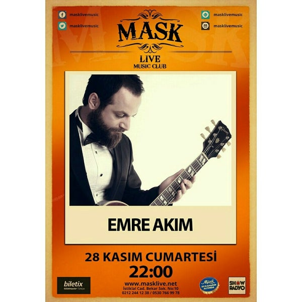Foto diambil di Mask Live Music Club oleh Emre akım w. pada 11/28/2015