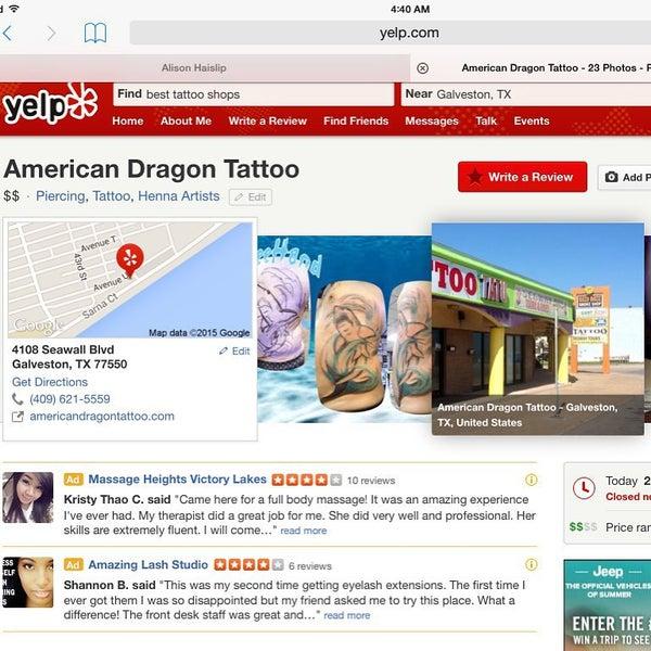 Photos At American Dragon Tattoo Fort Crockett 0 Tips