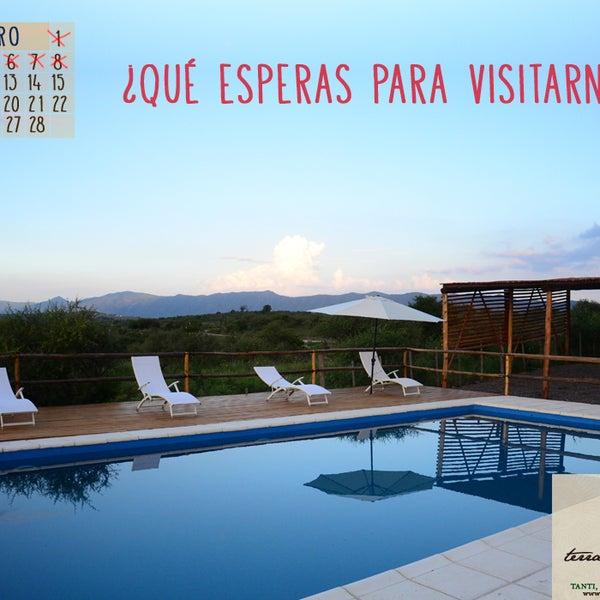 ¿Qué esperas para visitarnos? Aprovecha los últimos lugares disponibles. Vení a vacacionar en nuestro complejo en Tanti, Córdoba. Cabañas para 2 a 6 personas totalmente equipadas. #Vacaciones #Córdoba