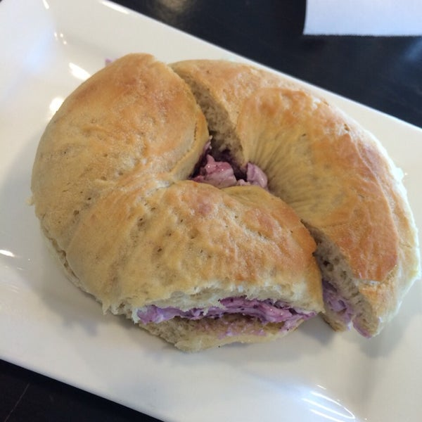 Had the cranberry cream cheese bagel... It's OK!  Nothing special