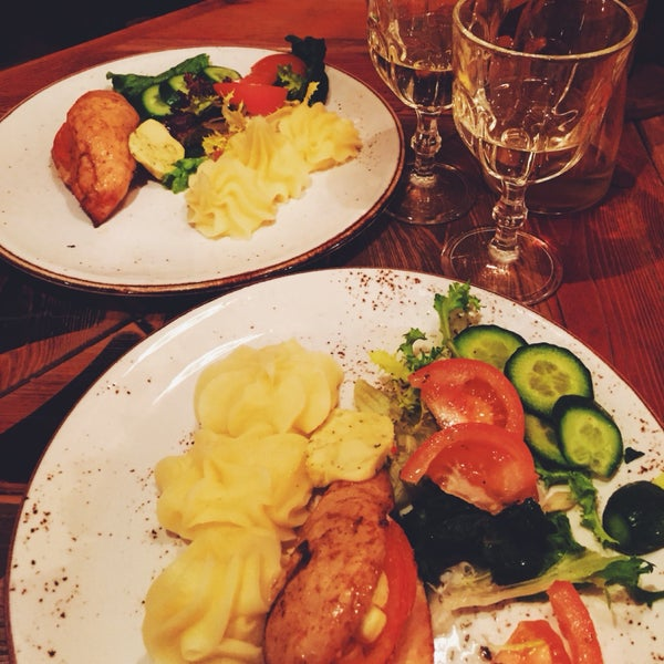 Best place for traditional Lithuanian food!! If you don't want traditional one, i can recommend you stuffed chicken breast... delicious!! Try also their red home wine.