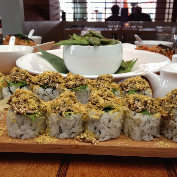 Get the brussels sprouts, tempeh bun, and noochi sushi!