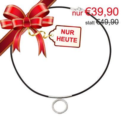 !! 3. Türchen !! statt 39,90... NUR 49,90 Halskette in 925 Silber mit Kautschuk Gilt nur für den 3. Dezember 2015 bis 23:59 http://bit.ly/1LQhQd1