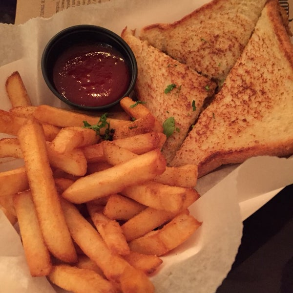 Chicken Toastie is out of this world with masala fries.