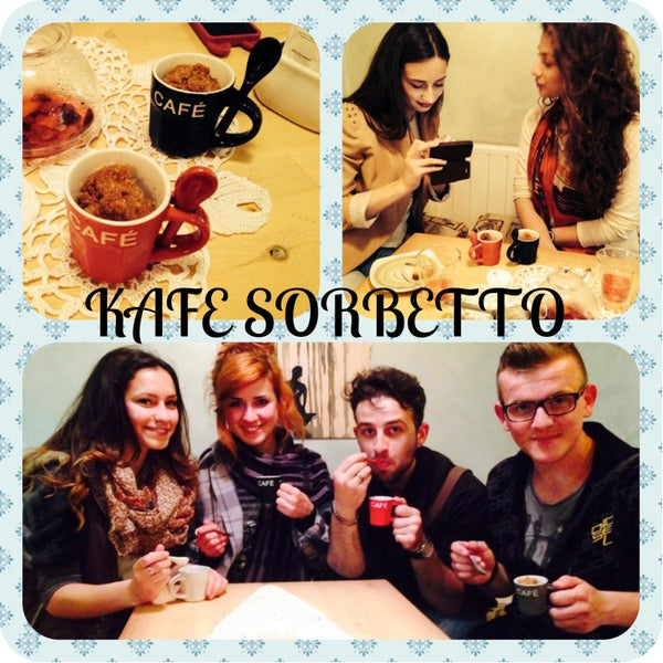 Is it warm?! come and taste the freshness! Coffee Sorbetto!!