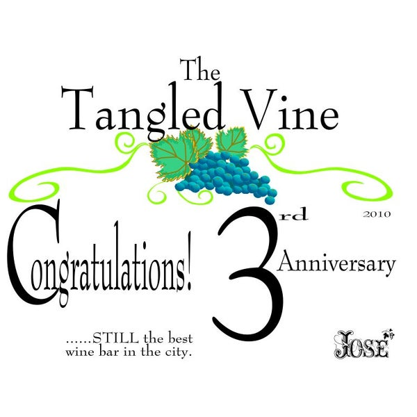 Congratulations on your 3rd Anniversary.
