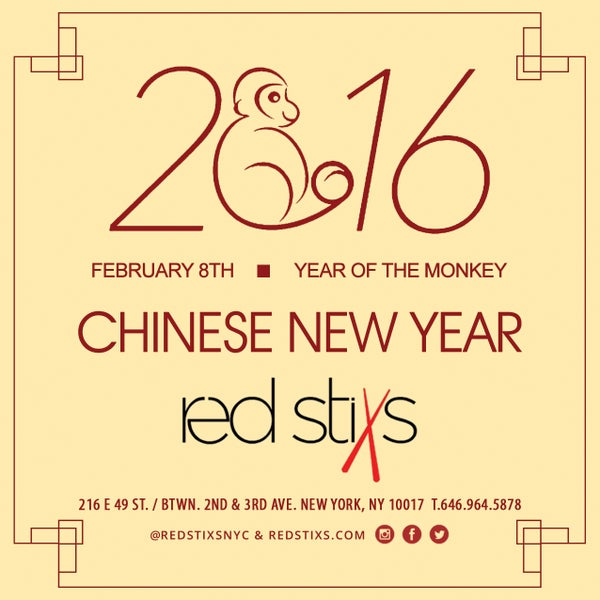 HAPPY NEW YEAR!! Let the festivities begin! Year Of The Monkey at Red Stixs! Join us 2nite for some #MonkeyBusiness and live performers!