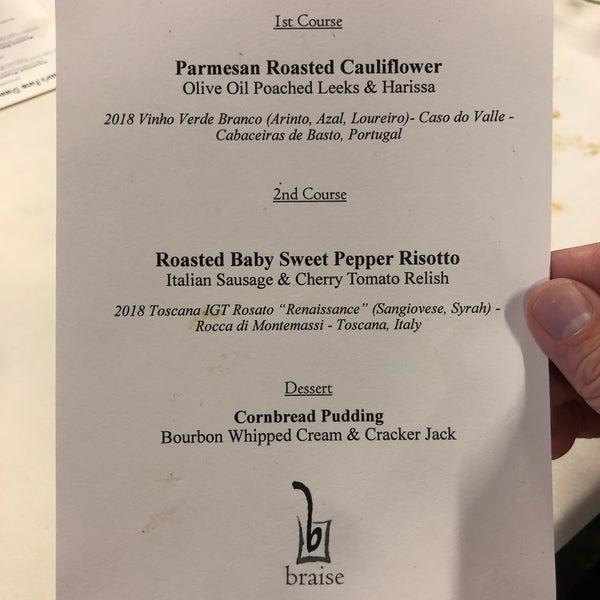 Снимок сделан в Braise Restaurant & Culinary School пользователем A.J. B. 9/22/2019