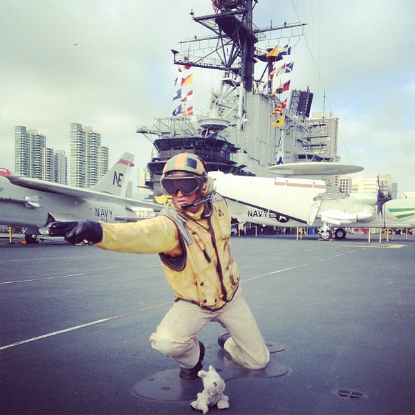 Photo taken at USS Midway Museum by Rebecca D. on 7/19/2013