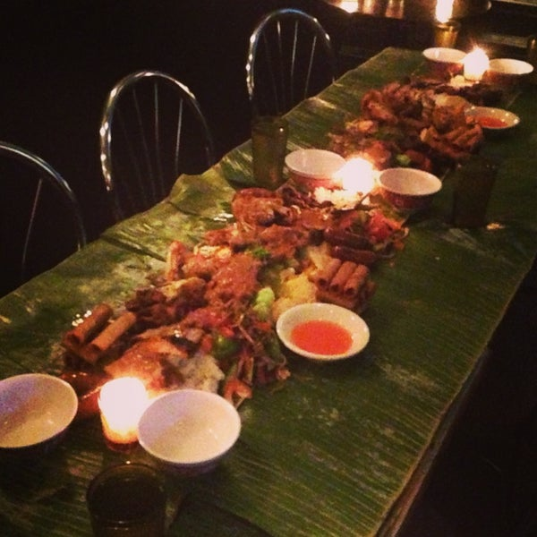 Kamayan Night! Every Thursday. You pick 2 apps & 3 entrees. $40 a person with a minimum of 4 people in a group. You get so much food!!!