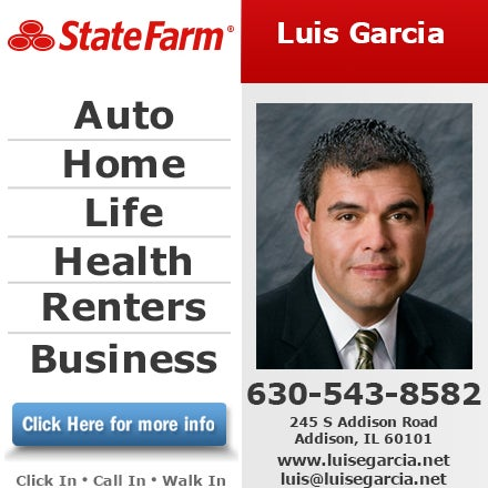 Luis Garcia State Farm Insurance Agent 245 S Addison Rd