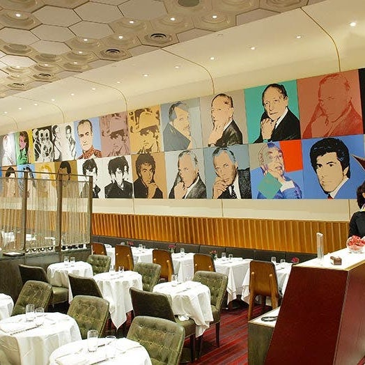 Nothing makes us feel like we've made it like splurging on a power lunch of lobster linguine alongside Midtown's movers and shakers, in a dining room adorned with Andy Warhol portraits. NBD.