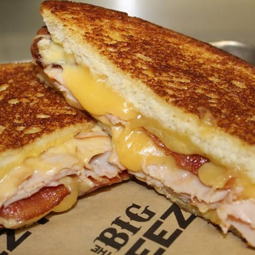 Turkey, bacon and Gouda with mustard in the Big Easy? Oh, if you insist.