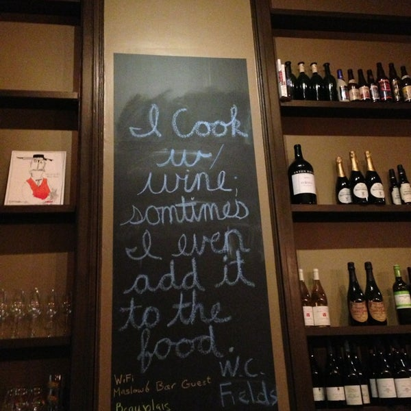 3/20/2013にKristin G.がMaslow 6 Wine Bar and Shopで撮った写真