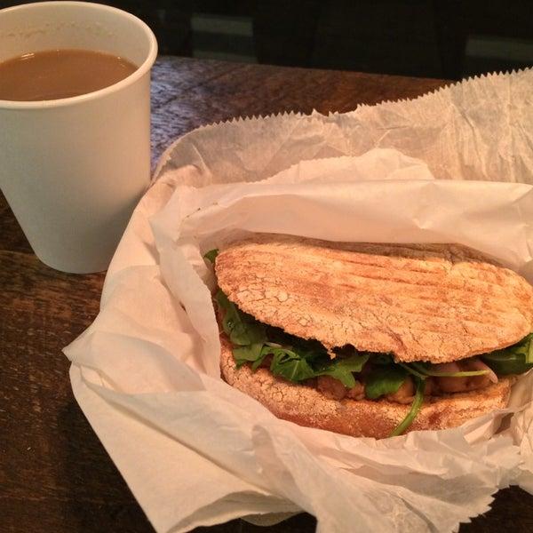 homemade chai + chana masala sandwich. yum!