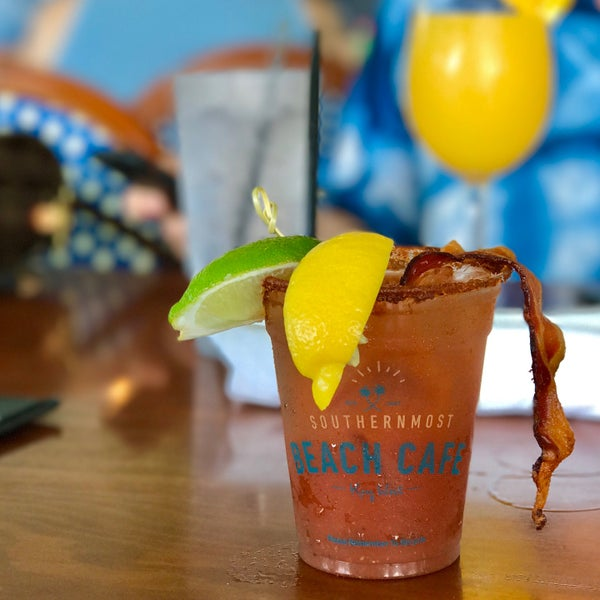 Old Bay Bacon Bloody Mary (and a double Mimosa in the background).