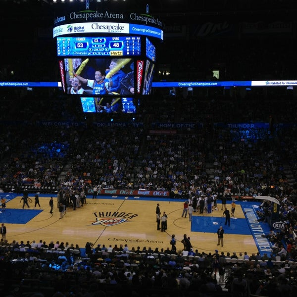 Das Foto wurde bei Chesapeake Energy Arena von Sam S. am 12/18/2012 aufgenommen