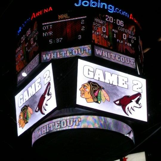 4/15/2012 tarihinde BK ..ziyaretçi tarafından Gila River Arena'de çekilen fotoğraf