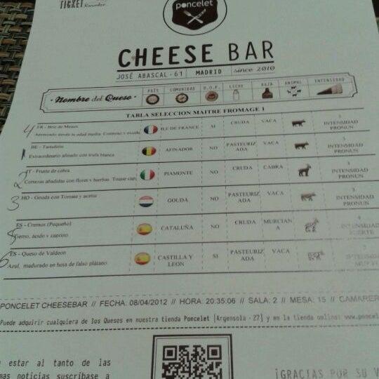 Foto scattata a Poncelet Cheese Bar da ybb1308 il 4/8/2012