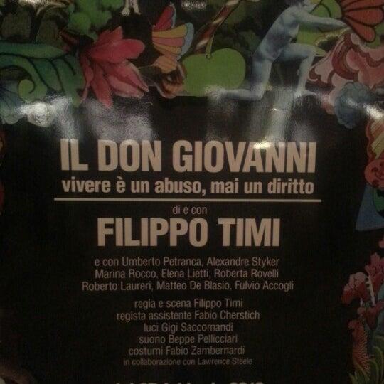 Снимок сделан в Teatro Franco Parenti пользователем David A. 3/15/2013