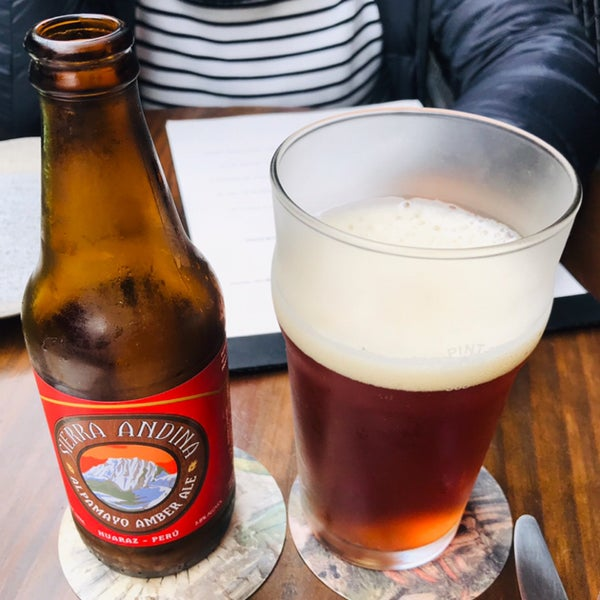 se recomienda: Cerveza Artesanal Sierra Andina - Alpamayo Amber Ale!!!