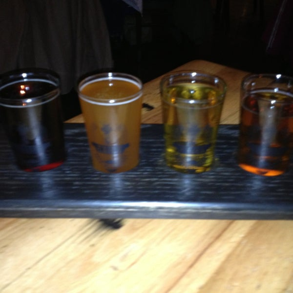 Not sure which beer to try? Get a 'Beer Flight'! Sample all four and find your favorite.