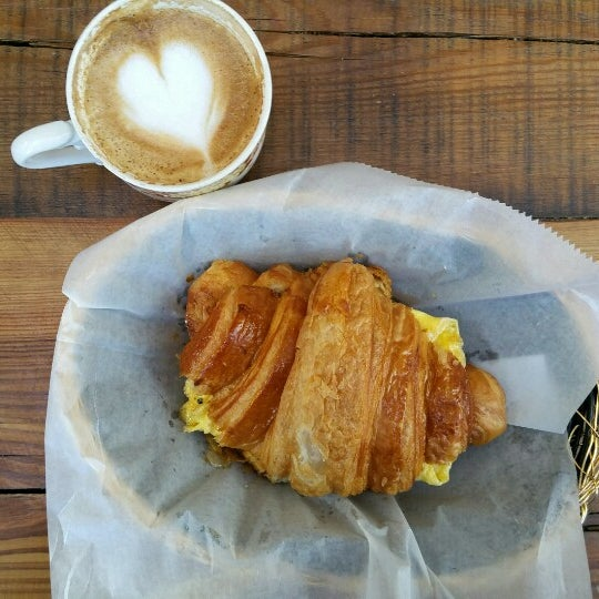 The Pedestrian (croissant) is very popular here and it is indeed tasty and go along with a cup of coffee, perfect.