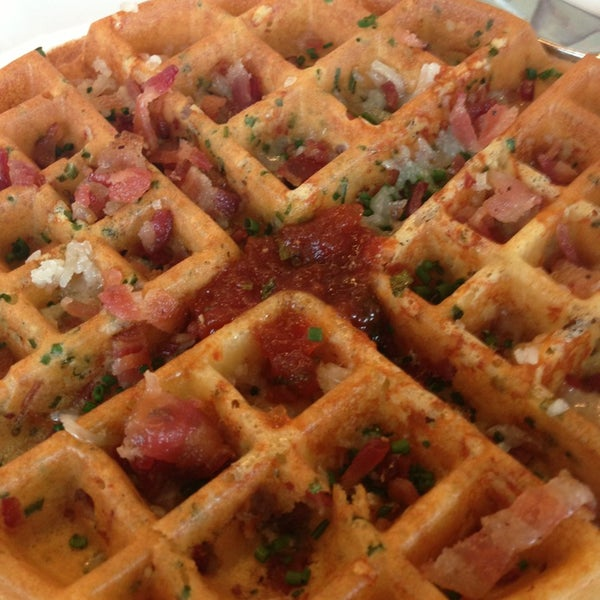 Ham & Gruyere waffle is the best.