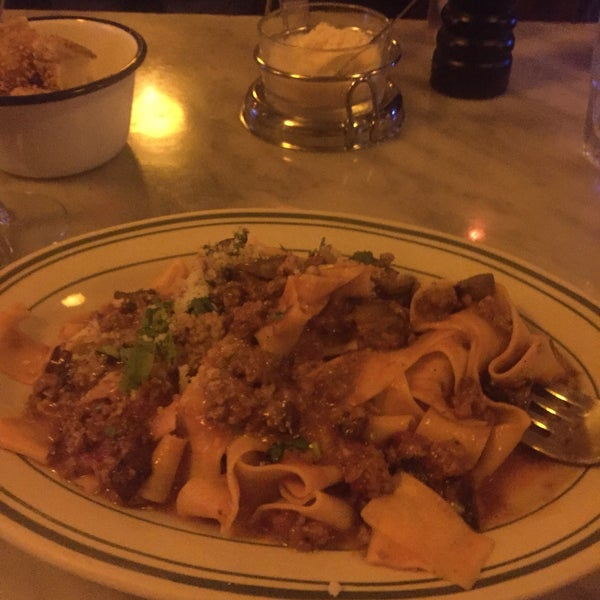 Pappardelle with mushroom & ragu is amazing!