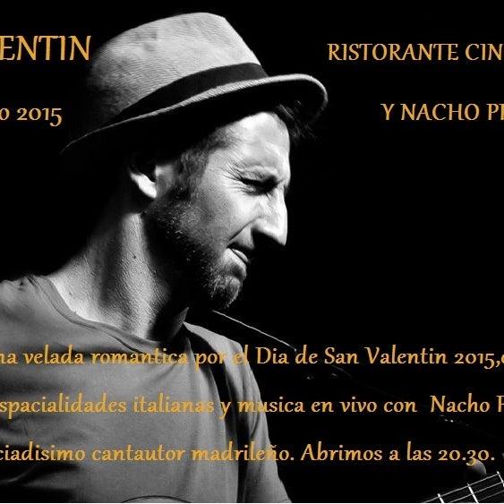 Sabado 14 de febrero 2015, Nacho Pereda, conocido cantautor madrileño,tocara en vivo durante toda la noche! Reservas al 963378877 o ristorante500@ymail.com