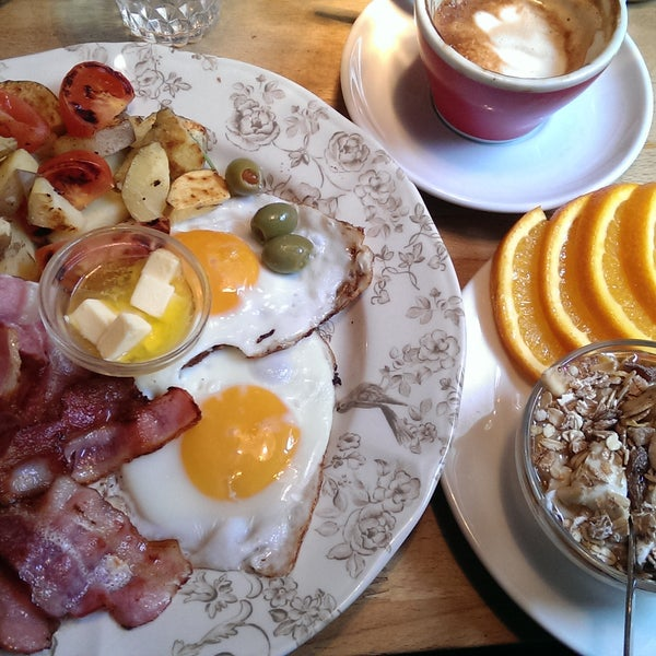 """The """"luxury brunch"""" is incredible. Eggs, bacon, skyr (Icelandic yoghurt) with müsli, slices of orange, warm waffle, thick and perfectly toasted slice of toast, and the coffee was nice and strong."""