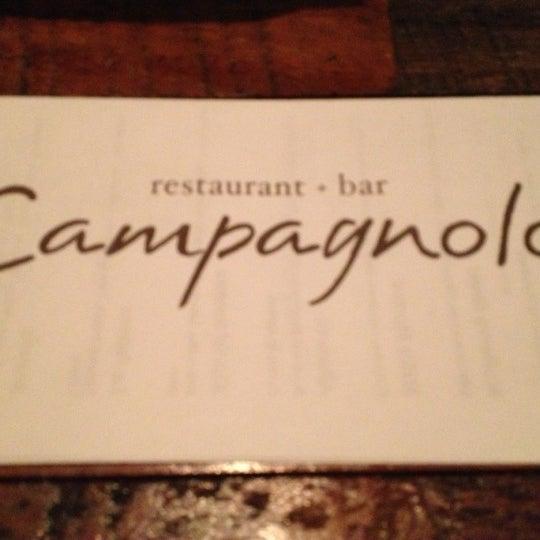 Das Foto wurde bei Campagnolo Restaurant + Bar von Carlton M. am 10/31/2012 aufgenommen