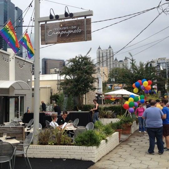 Das Foto wurde bei Campagnolo Restaurant + Bar von Carlton M. am 10/14/2012 aufgenommen