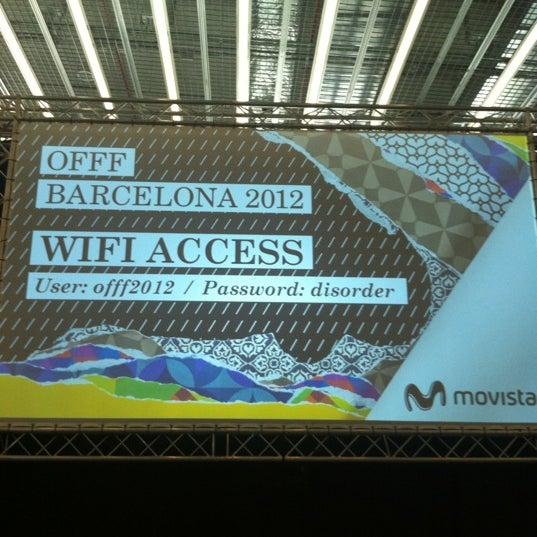 Foto tirada no(a) OFFF Barcelona por MC C. em 5/18/2012