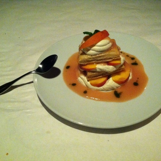 Make sure and try the Peaches & Cream fur dessert. It's delectable!