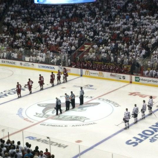 4/22/2012 tarihinde Alex W.ziyaretçi tarafından Gila River Arena'de çekilen fotoğraf