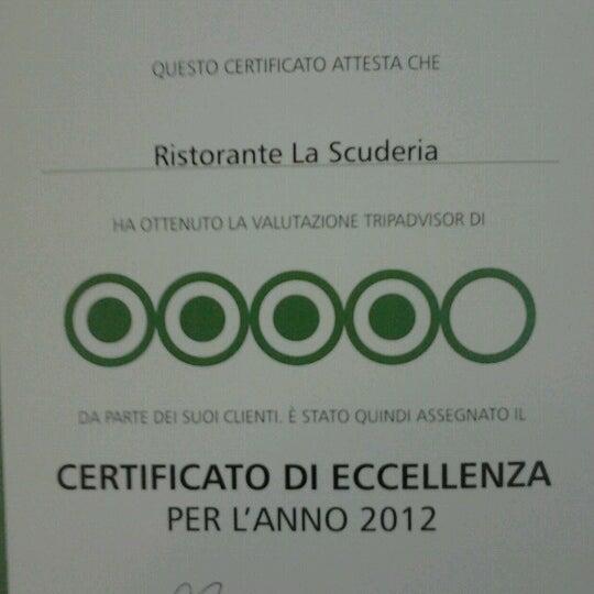 Das Foto wurde bei Ristorante La Scuderia von Eleonora am 7/1/2012 aufgenommen