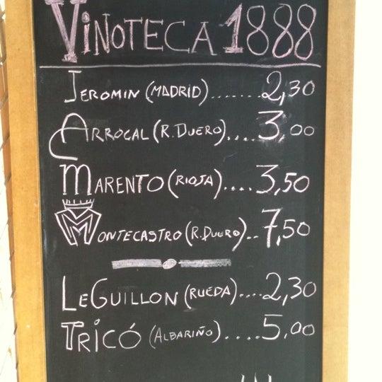 Selección de vinos por Vinoteca 1888. Grades vinos por copas al alcance de cualquier bolsillo. Desde 2,30!!! Tintos y blancos, además de la carta habitual de Giangrossi  pide un MONTECASTRO y disfruta