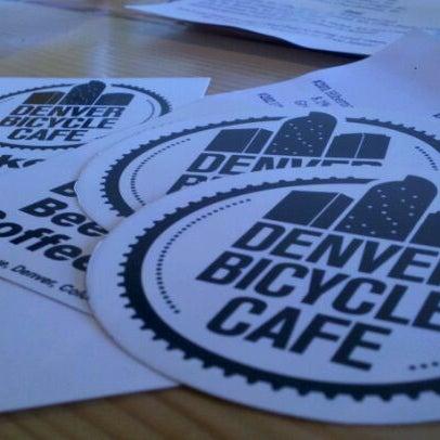Photo taken at Denver Bicycle Cafe by David on 12/10/2011