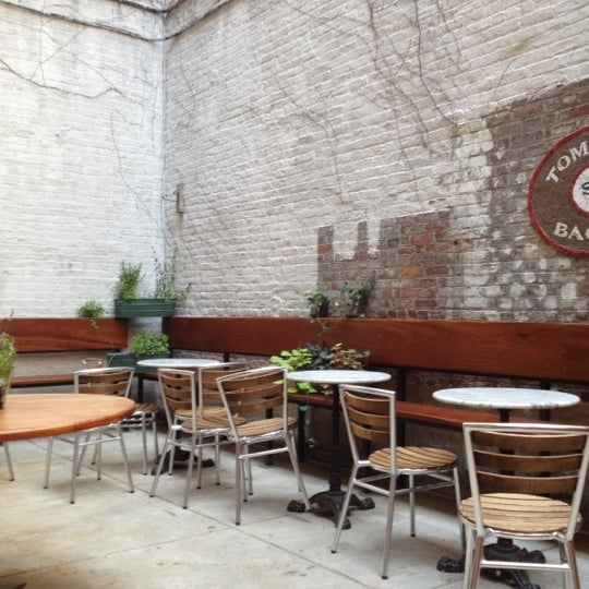 The beautiful outdoor seating area. Just remember to close the door behind you!