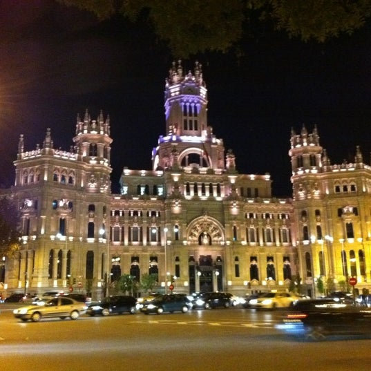 Palacio De Cibeles City Hall In Retiro